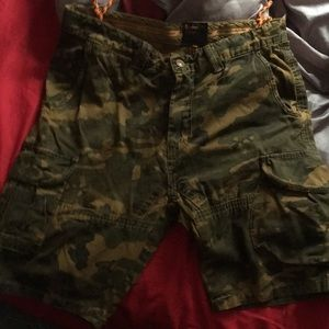 Pants - Army fatigues cargo shorts